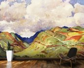 Koolau Mountian Range And Clouds - Art By J.H. Sharp, C 1931 wall mural kitchen preview