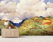 Koolau Mountian Range And Clouds - Art By J.H. Sharp, C 1931 wall mural living room preview