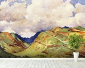 Koolau Mountian Range And Clouds - Art By J.H. Sharp, C 1931 wall mural in-room view