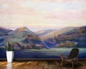 Mountains And Ocean At Sunset - C.1935, Hope Hayselden wallpaper mural kitchen preview