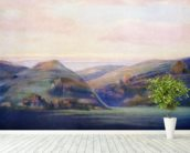 Mountains And Ocean At Sunset - C.1935, Hope Hayselden wallpaper mural in-room view