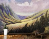 Lush Kalihi Valley In Afternoon Lighting, C.1935 mural wallpaper kitchen preview