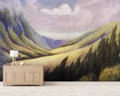 Lush Kalihi Valley In Afternoon Lighting, C.1935 mural wallpaper living room preview