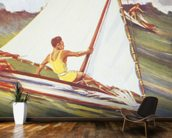 Man Windsurfing On Wave, C. 1921, Art By Gilles wall mural kitchen preview