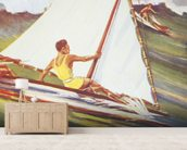 Man Windsurfing On Wave, C. 1921, Art By Gilles wall mural living room preview