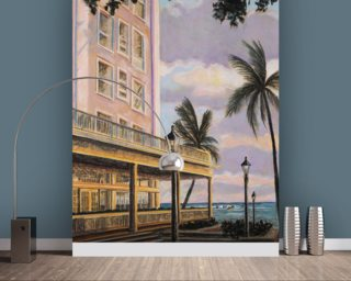 Moana At Sunset, Hawaii wallpaper mural