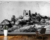 Landscape with a Tower, 1650 (etching) mural wallpaper kitchen preview