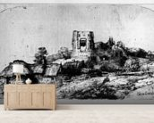 Landscape with a Tower, 1650 (etching) mural wallpaper living room preview