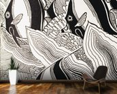Illustraion Of Angelfish - C.1930, Don Blanding mural wallpaper kitchen preview