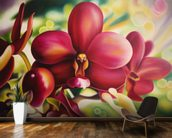 Beautiful Red Orchid mural wallpaper kitchen preview