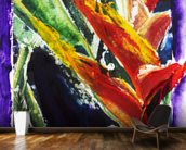 Heliconia - Batik On Rice Paper mural wallpaper kitchen preview