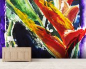 Heliconia - Batik On Rice Paper mural wallpaper living room preview