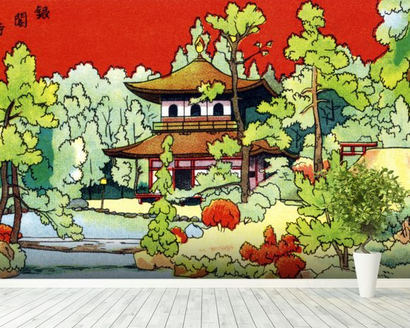 Illustration Of A Shrine In - Japan wall mural room setting