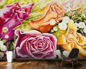 Colorful Flowers In Bouquet wall mural kitchen preview