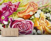 Colorful Flowers In Bouquet wall mural living room preview