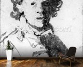 Self-portrait as a young man, c.1628 (pen, ink & wash on paper) wallpaper mural kitchen preview