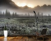 Morning Fog on the Copper River Highway wallpaper mural kitchen preview