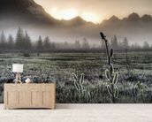 Morning Fog on the Copper River Highway wallpaper mural living room preview