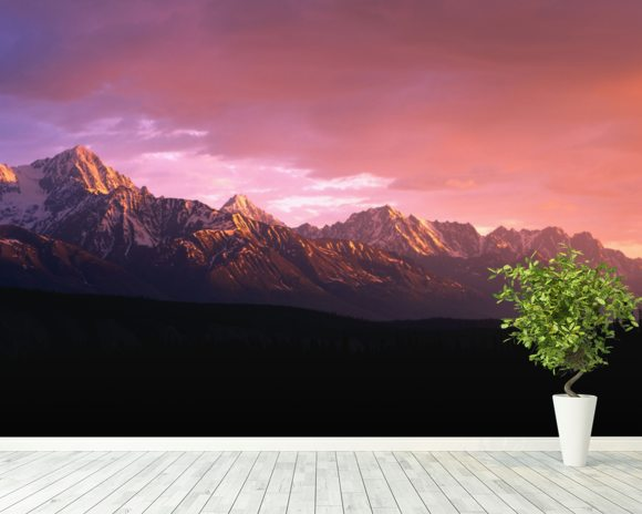 Chugach Mountains At Sunset wall mural room setting