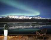 Northern Lights Over Chugach Mountains wallpaper mural kitchen preview