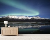 Northern Lights Over Chugach Mountains wallpaper mural living room preview