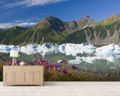 Fireweed On The Shore Of Bear Glacier Lake wallpaper mural living room preview