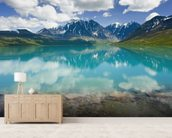 Turquoise Lake In Lake Clark National Park wall mural living room preview