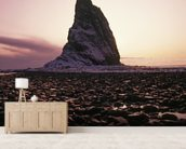 Sunset Over Rock Kayak Island wall mural living room preview