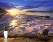Sunset Over Knik Arm and Six Mile Creek mural wallpaper kitchen preview