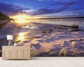 Sunset Over Knik Arm and Six Mile Creek mural wallpaper living room preview