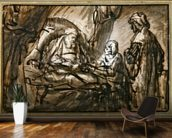 The Benediction of Isaac (pen & ink and wash) mural wallpaper kitchen preview