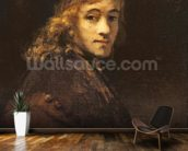 Titus, the Artists son, c.1662 (oil on canvas) wallpaper mural kitchen preview