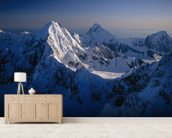 Mtn Peak next to Mt Fairweather wallpaper mural living room preview