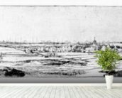 The Goldweighers Field near Haarlem, 1651 (etching) wall mural in-room view