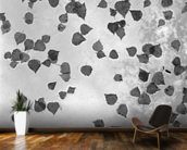 Fall Leaves Laying on Glass Roof Anchorage Alaska mural wallpaper kitchen preview