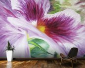 Abstract Painting of a Pansy flower wallpaper mural kitchen preview