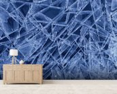 Ice Crystals Formed on Portage River - Alaska wall mural living room preview