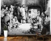 Christ preaching, c.1652 (etching) mural wallpaper kitchen preview