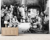 Christ preaching, c.1652 (etching) mural wallpaper living room preview
