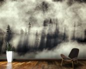 Foggy Landscape Stephens Passage Tongass National Forest wallpaper mural kitchen preview