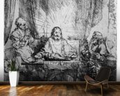 Supper at Emmaus, 1654 (etching) wall mural kitchen preview