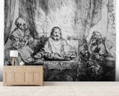 Supper at Emmaus, 1654 (etching) wall mural living room preview