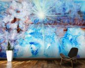 Abstract Watercolour Painting with a Starburst wall mural kitchen preview