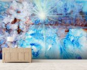 Abstract Watercolour Painting with a Starburst wall mural living room preview