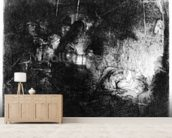The Adoration of the Shepherds, c.1652 (etching) wallpaper mural living room preview