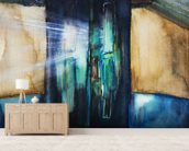 Watercolor Painting of an Opening Door Filled with Light mural wallpaper living room preview