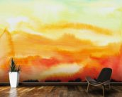 Watercolor Painting of a Lake of Fire wallpaper mural kitchen preview