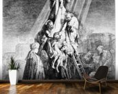 The Deposition, 1633 (etching) mural wallpaper kitchen preview