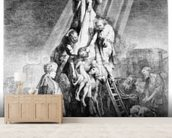The Deposition, 1633 (etching) mural wallpaper living room preview
