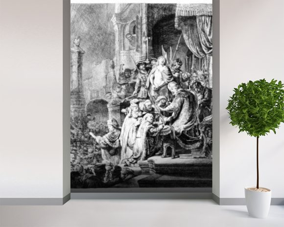 The Judgement of Christ, c.1636 (etching) wall mural room setting